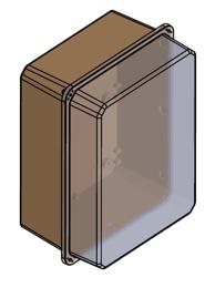 Obudowa poliestrowa szczelna IP65 z obudową transparentną