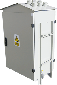 RSW pole transformer station switchgear - with single doors