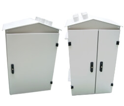 Substation pole cabinets