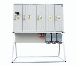 Temporary power distribution cabinets