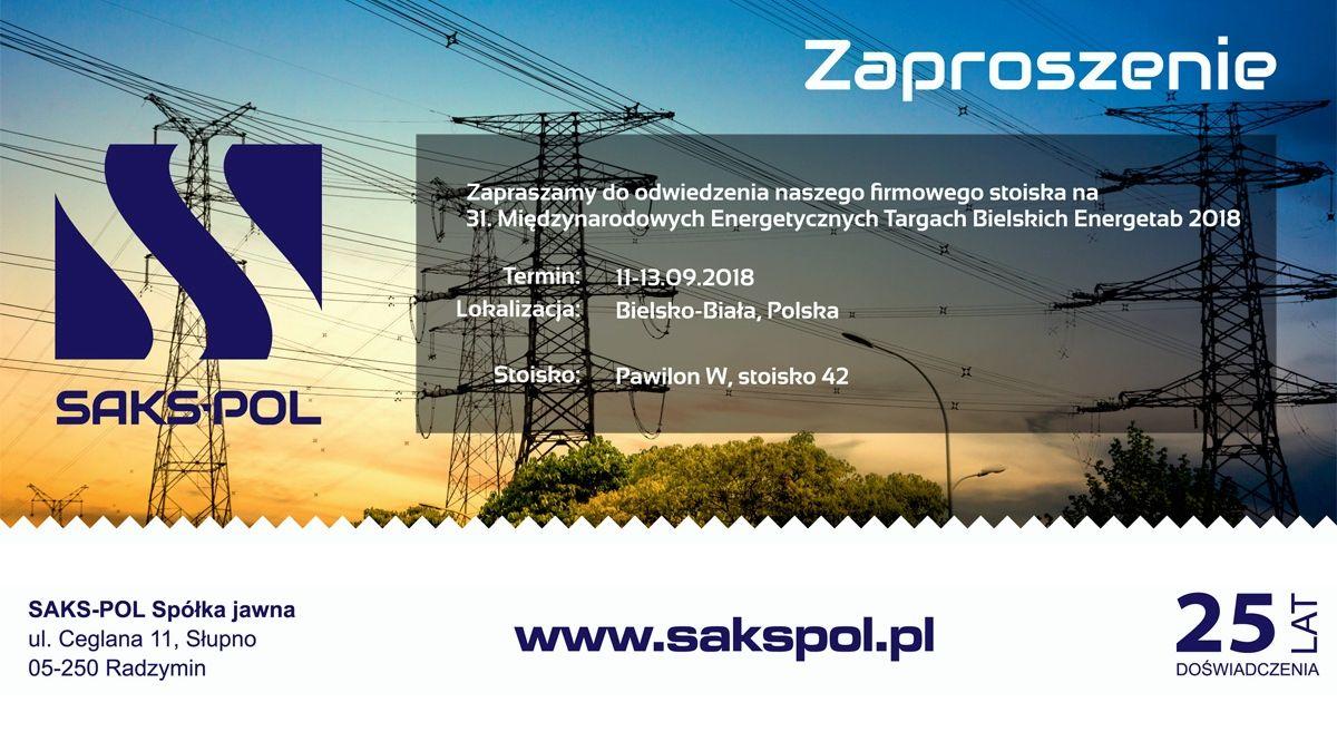 Targi ENERGETAB 2018 - Zaproszenie